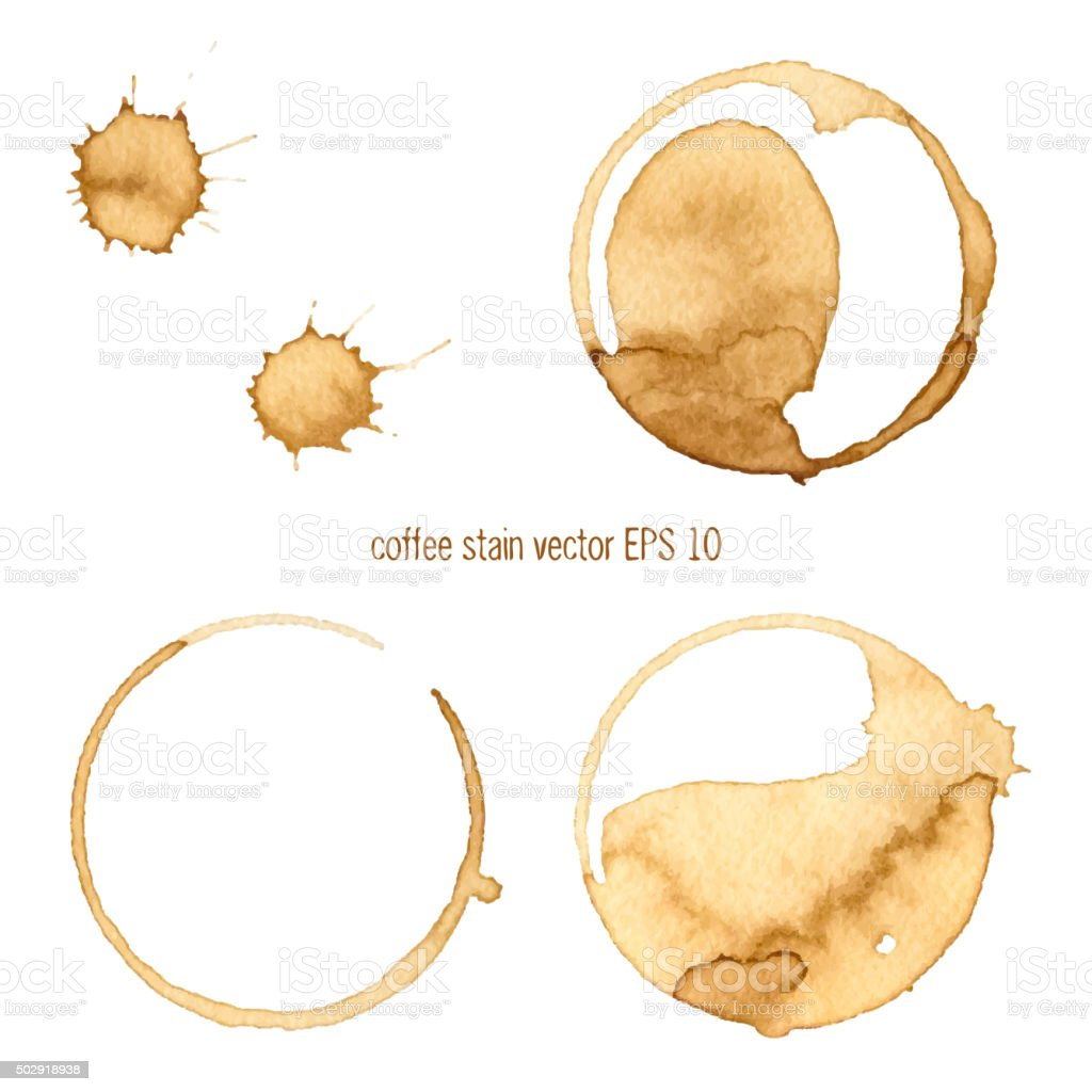 Coffee Stain vector art illustration