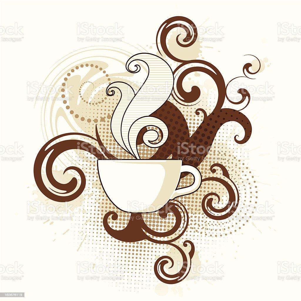 Coffee Swirls vector art illustration