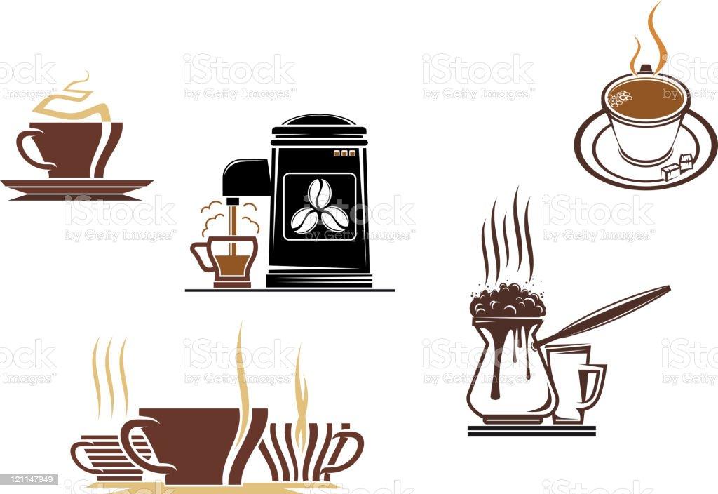 Coffee symbols royalty-free stock vector art