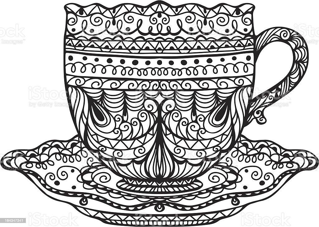 Coffee / Tea cup vector art illustration