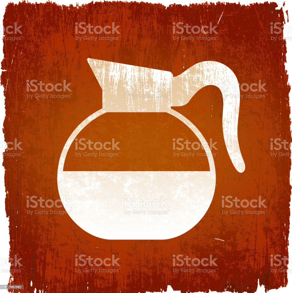 coffee tea pot on royalty free vector Background 80514nine8 royalty-free stock vector art