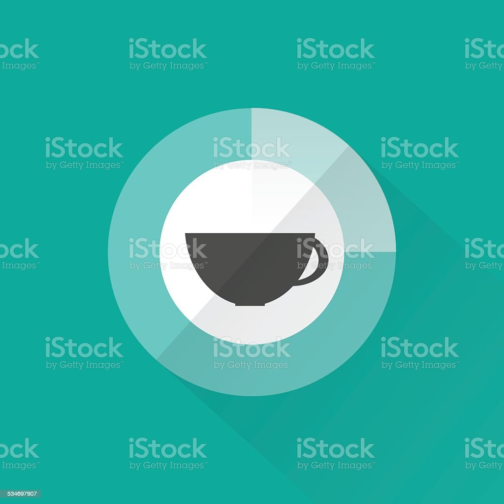 Coffee time, flat design vector art illustration