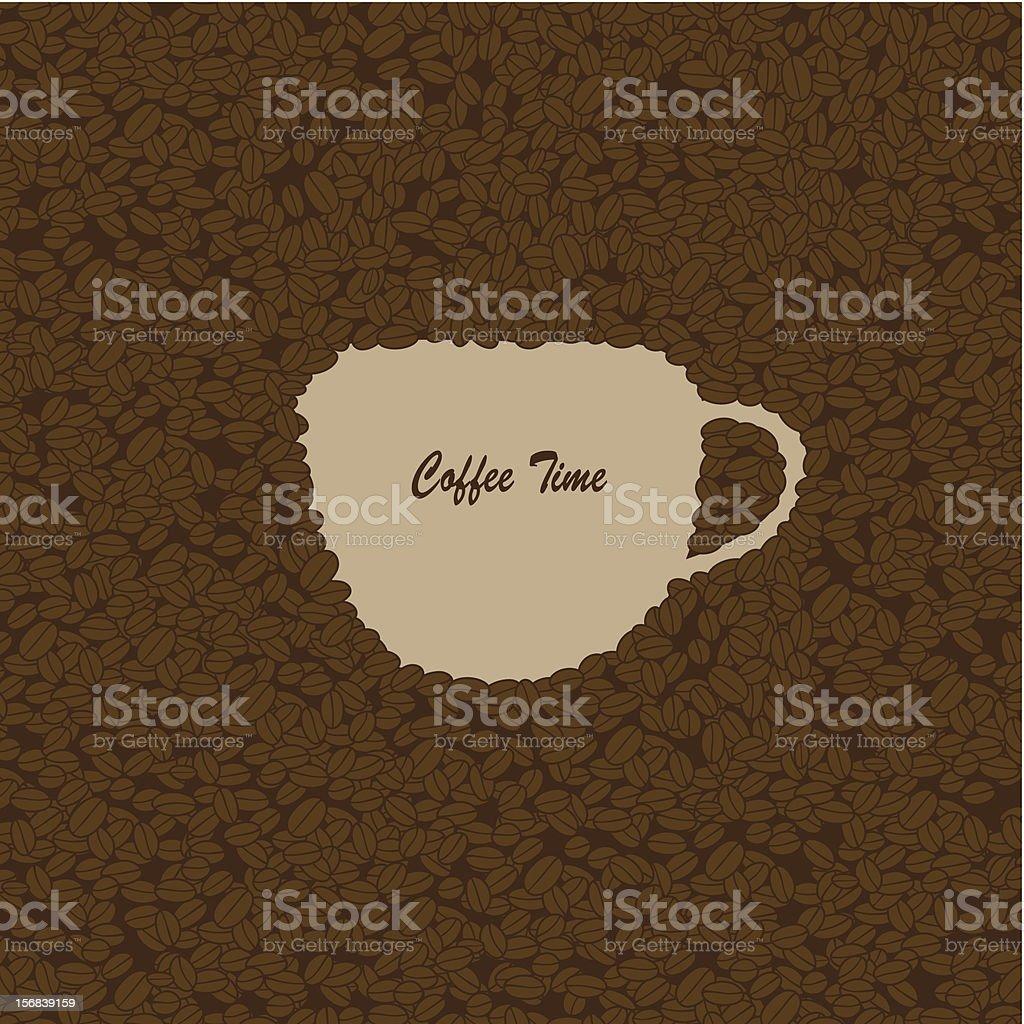 coffee time vector art illustration