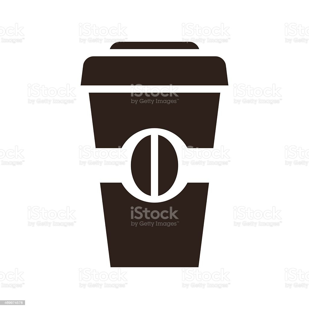 Coffee to go icon vector art illustration