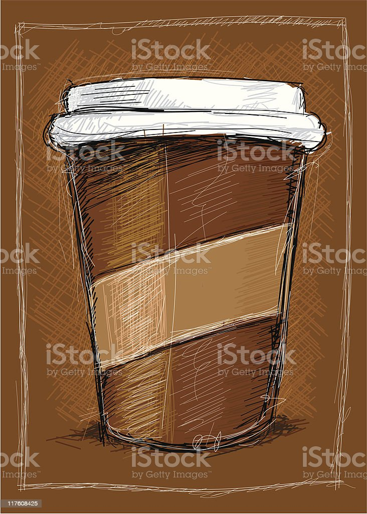 coffee to go royalty-free stock vector art