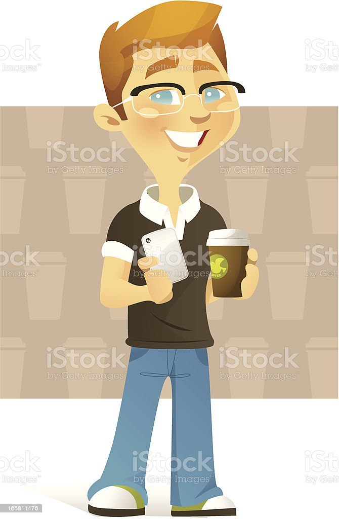 Coffee to go (Male) royalty-free stock vector art