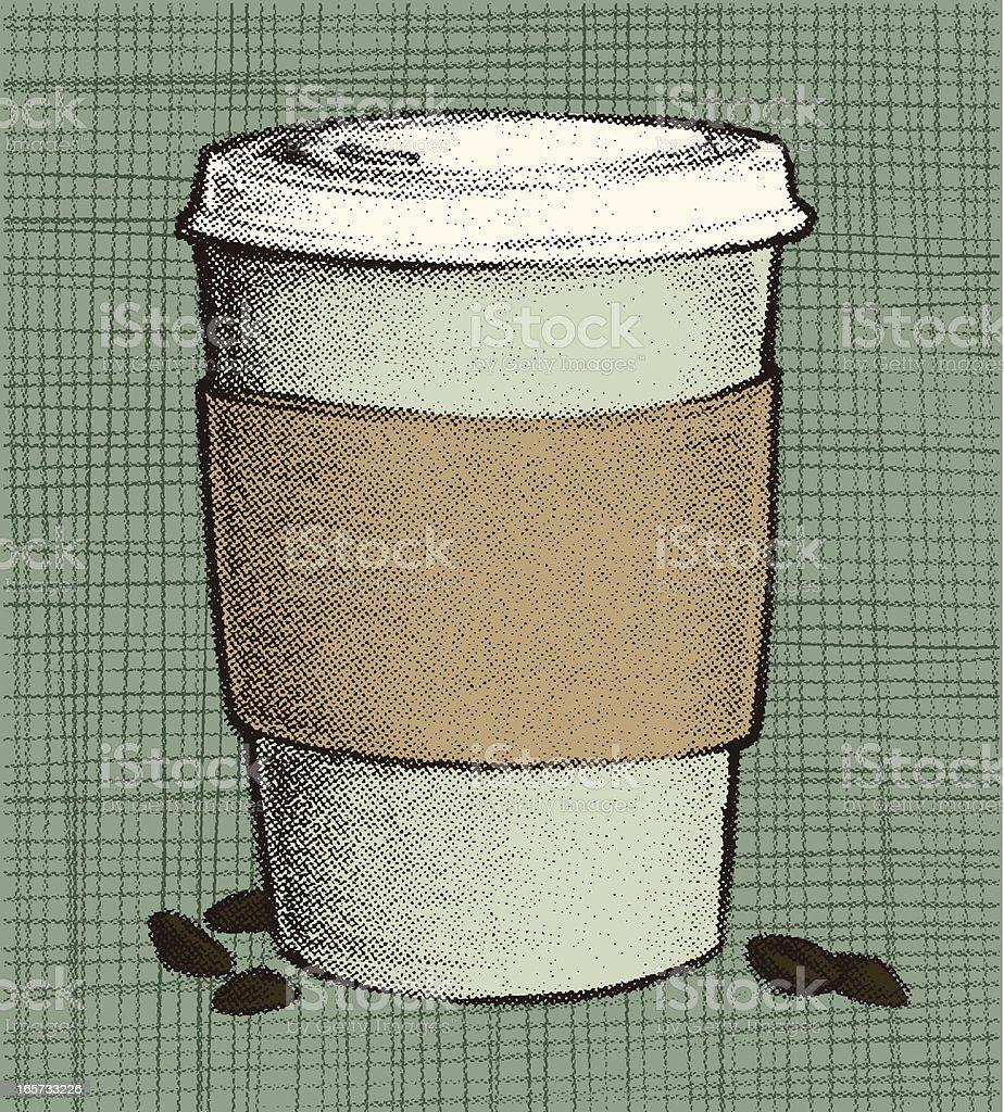 coffee to goOOOOooo royalty-free stock vector art