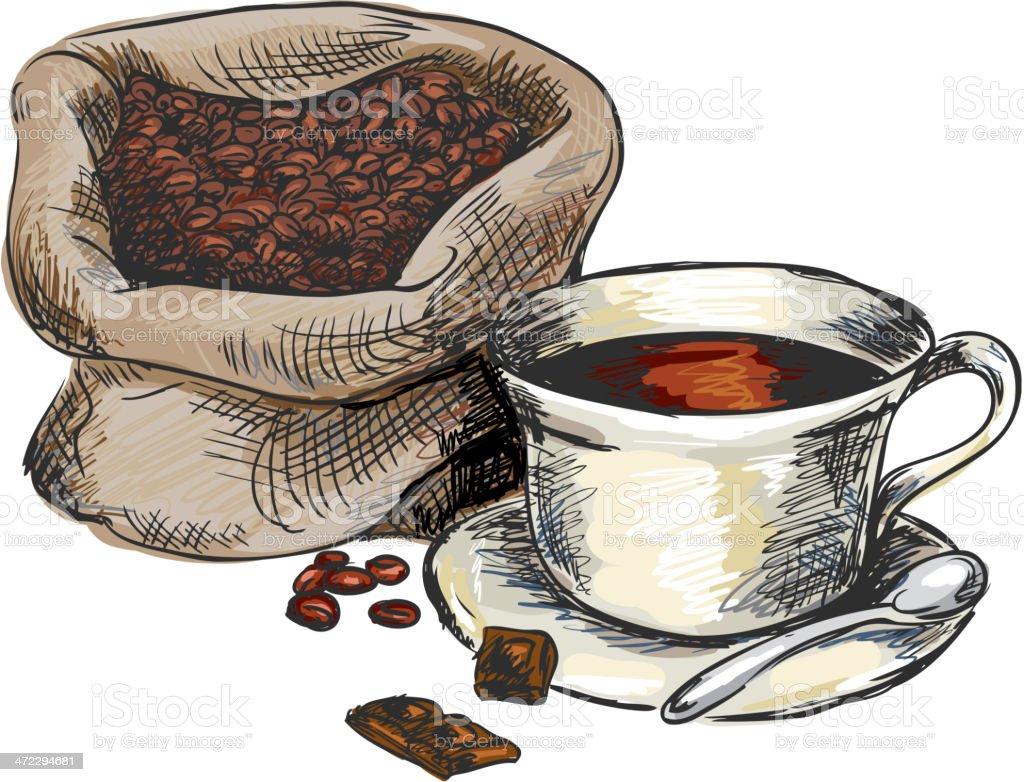 Coffee royalty-free stock vector art