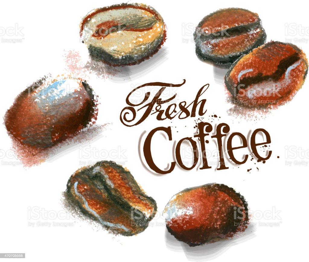 coffee vector logo design template. cafeteria or grain, beans icon vector art illustration
