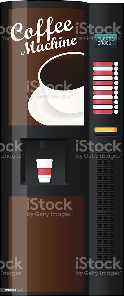 Coffee vending machine vector art illustration