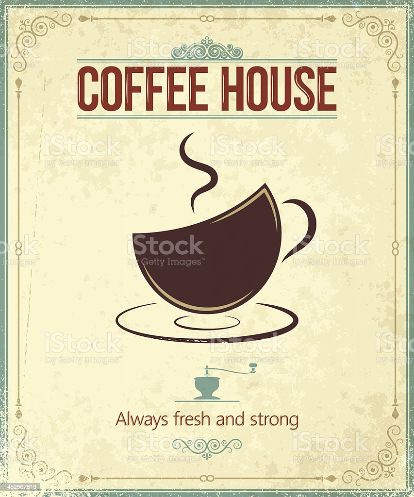 coffee vintage background royalty-free stock vector art