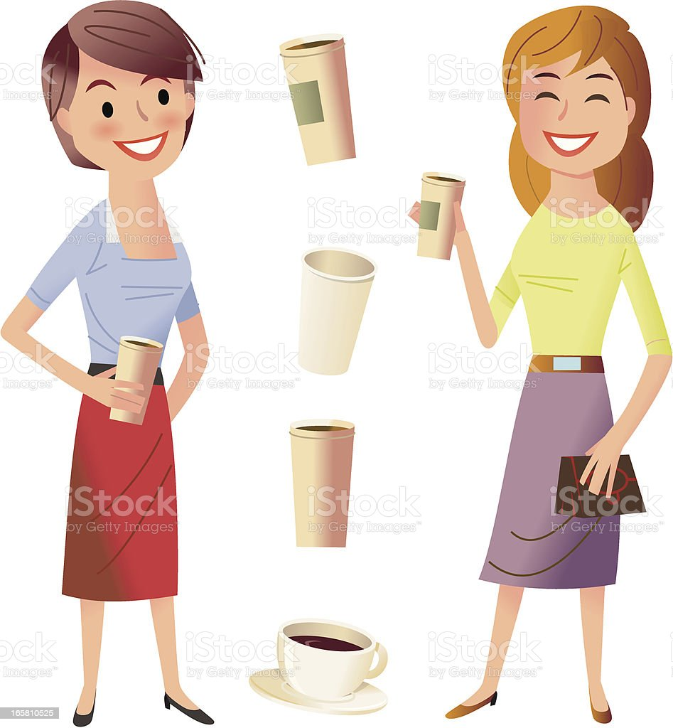 Coffee with a friend royalty-free stock vector art