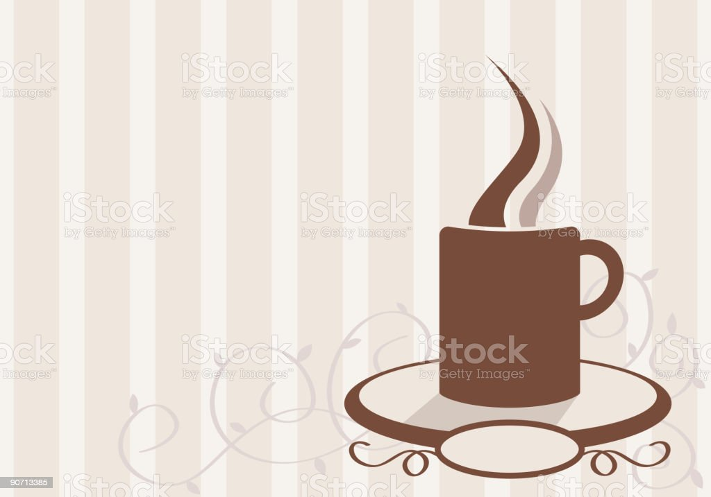 Coffee with style royalty-free stock vector art