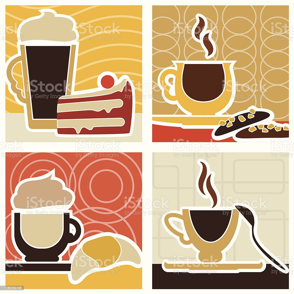 Coffee/Sweet Designs royalty-free stock vector art