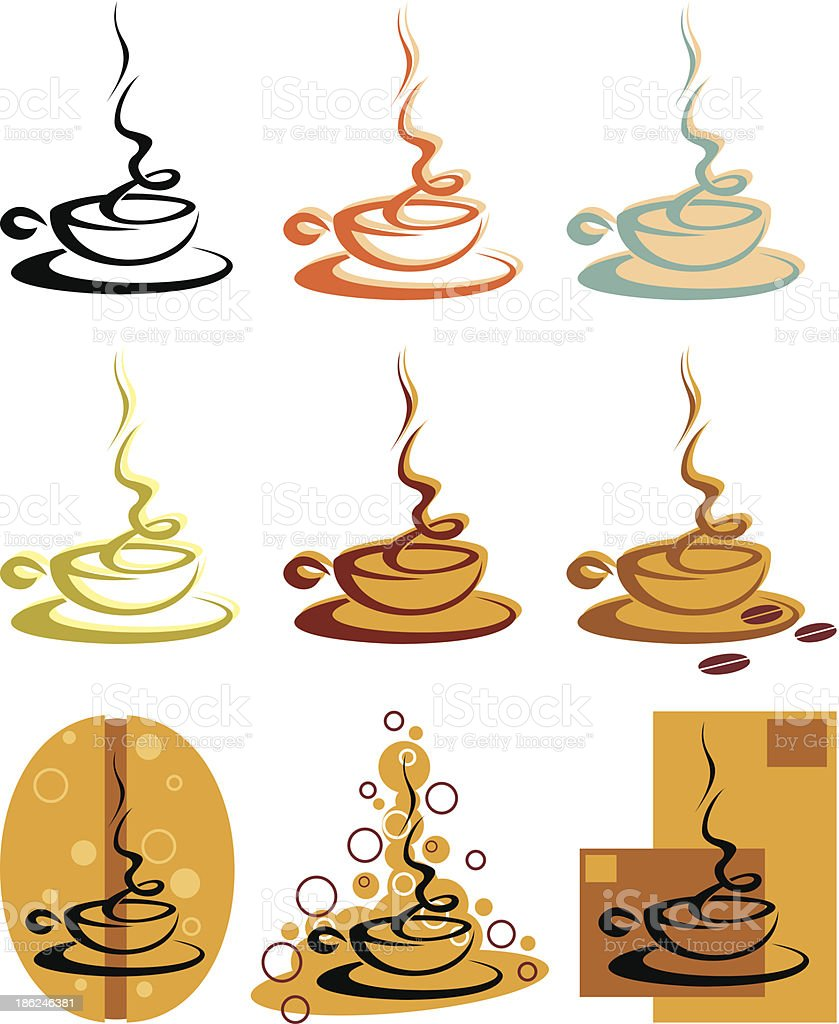 coffee/tea cup royalty-free stock vector art