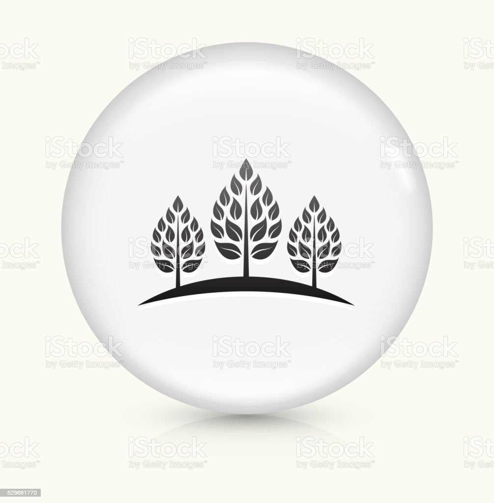 Coffer Tree icon on white round vector button vector art illustration