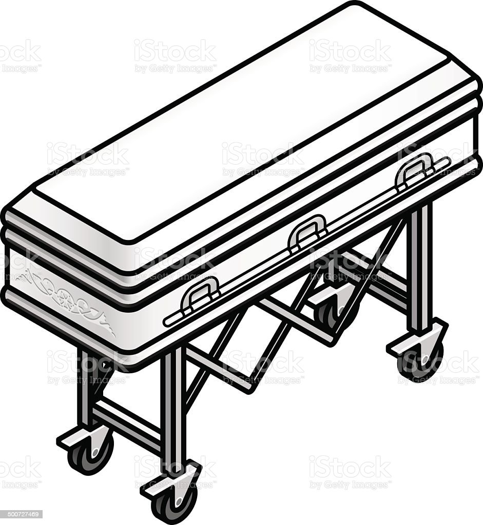 Coffin royalty-free stock vector art