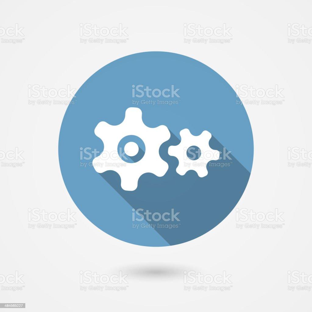 cog gear icon vector art illustration