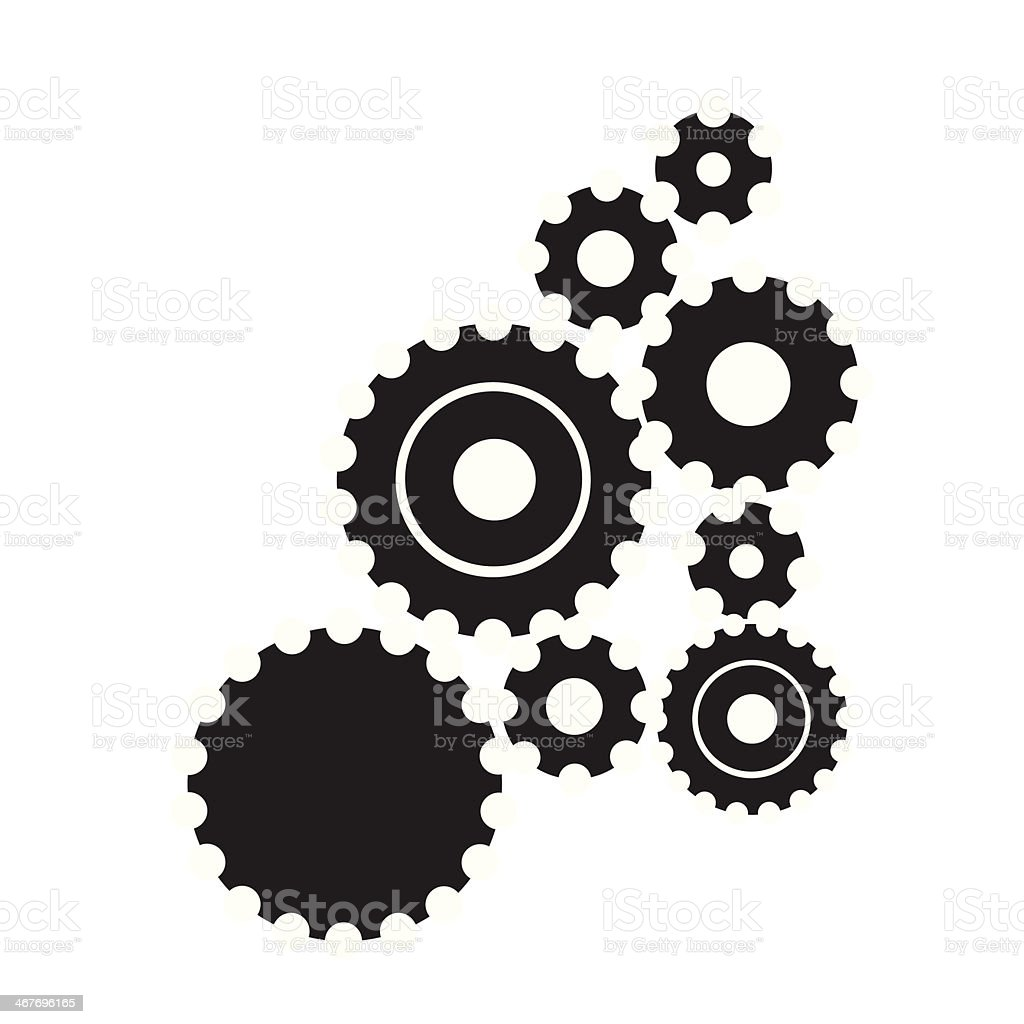 cog vector art illustration