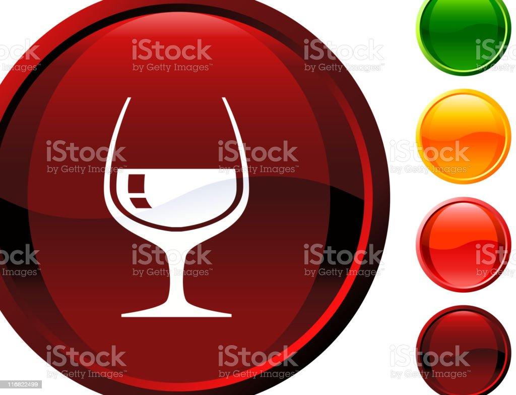 cognac glass internet royalty free vector art vector art illustration