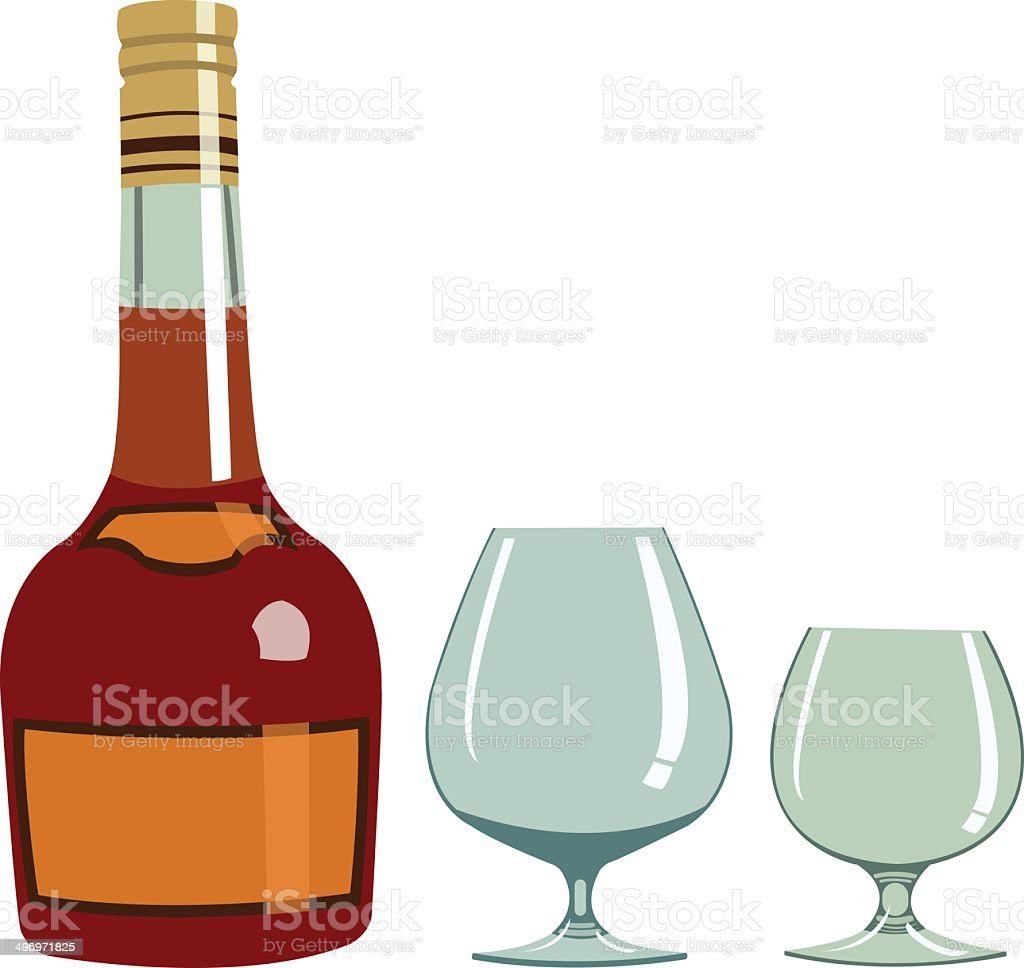 Cognac - Illustration royalty-free stock vector art
