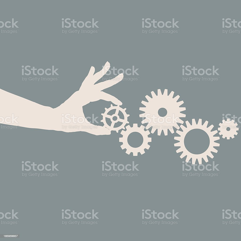 Cogs and gears vector art illustration