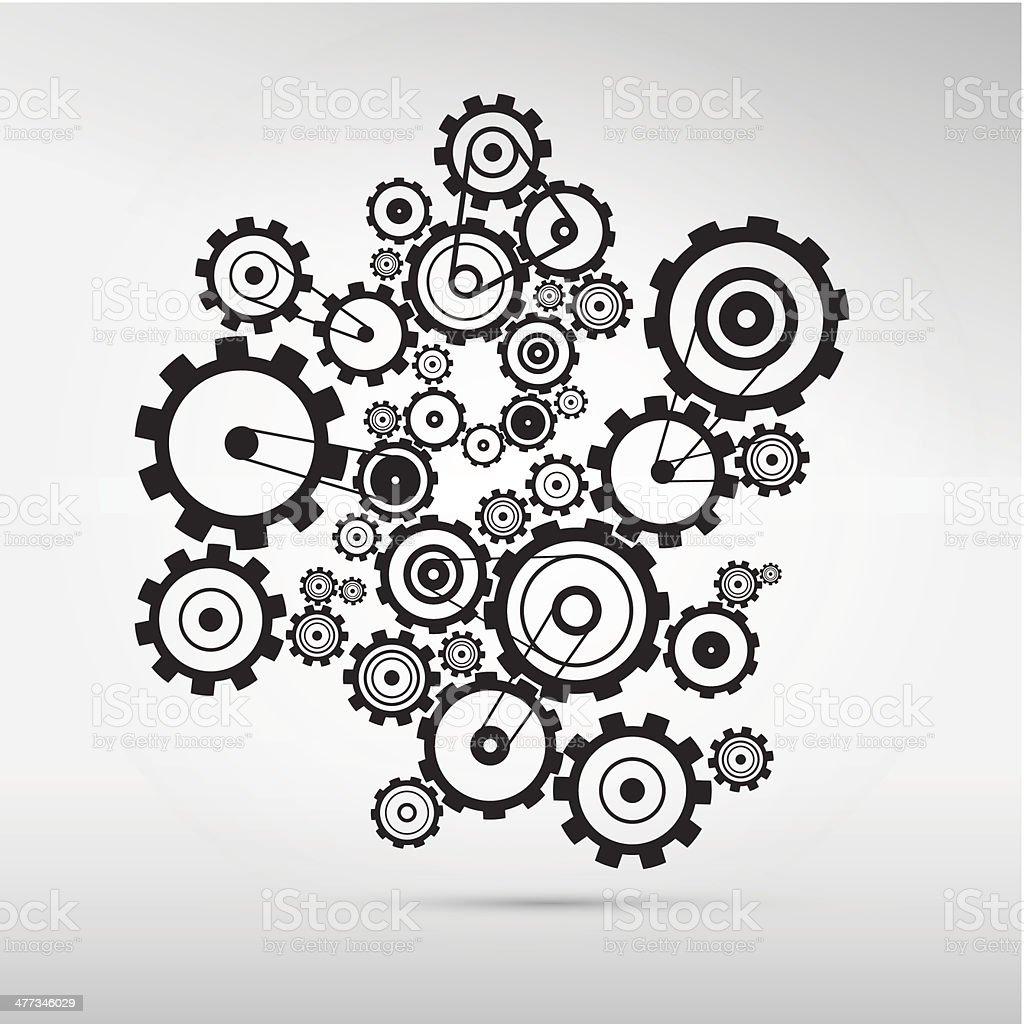 Cogs -Gears Illustration vector art illustration