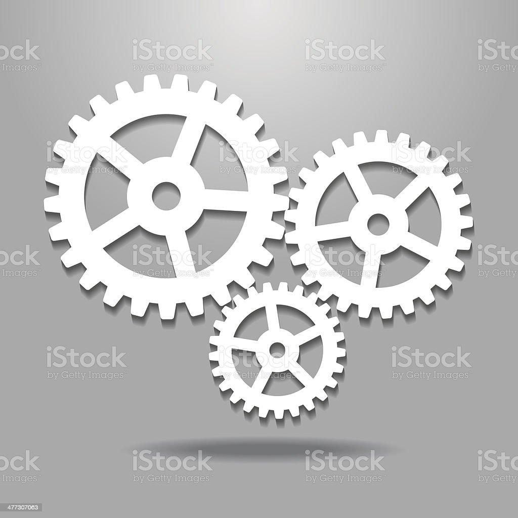 Cogwheel gear mechanism vector art illustration