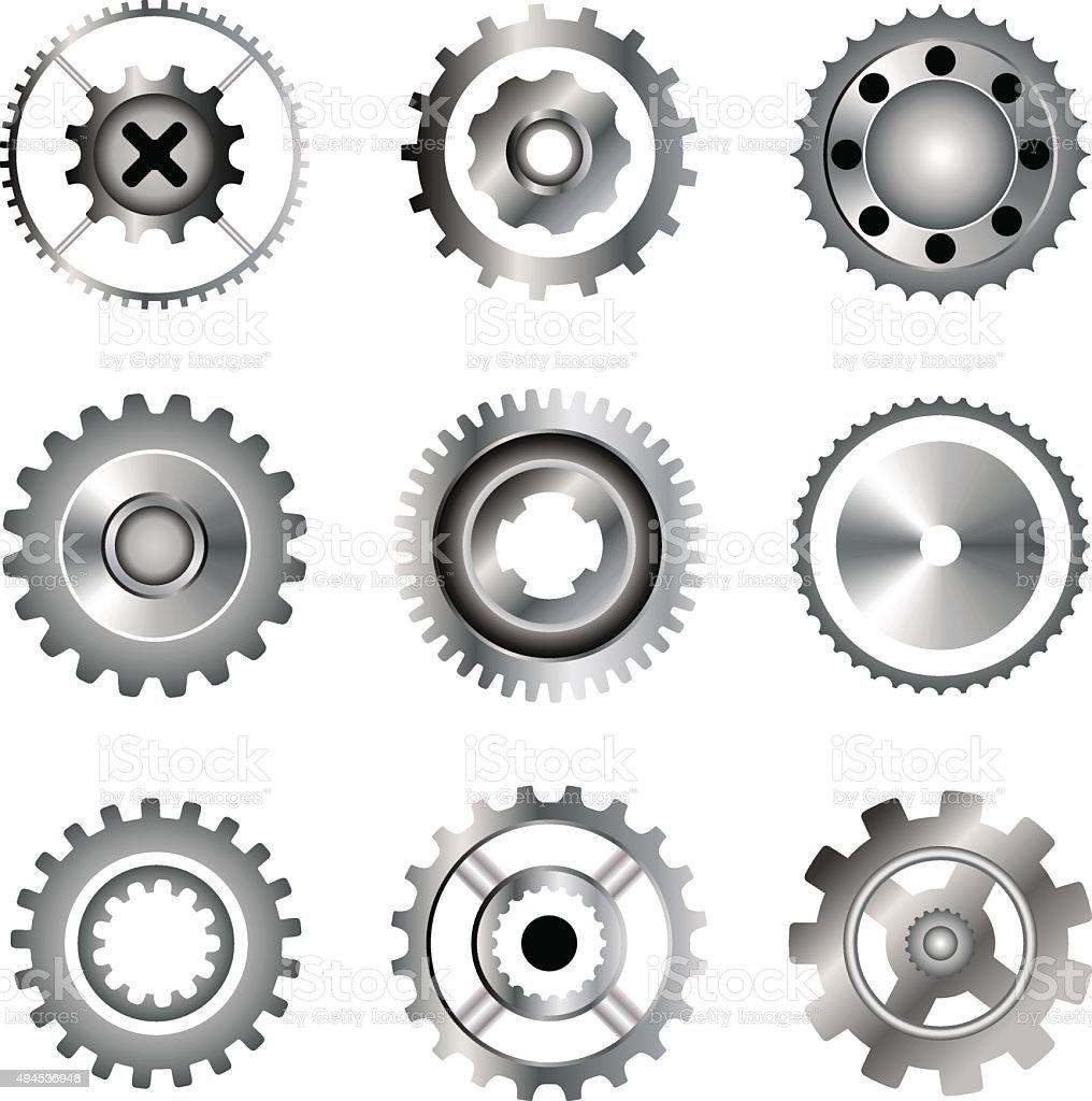 Cogwheel  icons vector art illustration