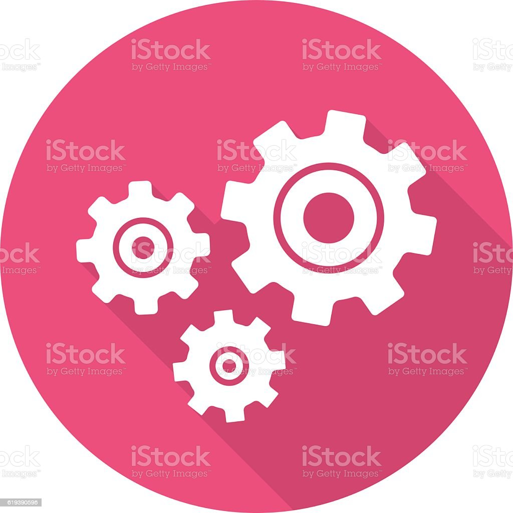 Cogwheels icon vector art illustration