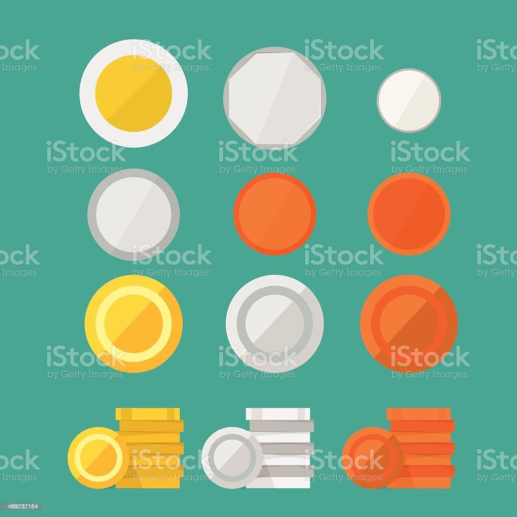 coins set - vector illustration vector art illustration