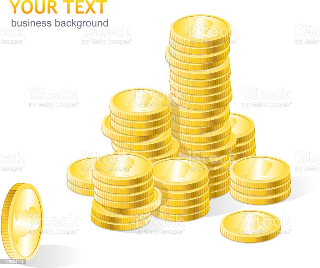 Coins stack gold royalty-free stock vector art