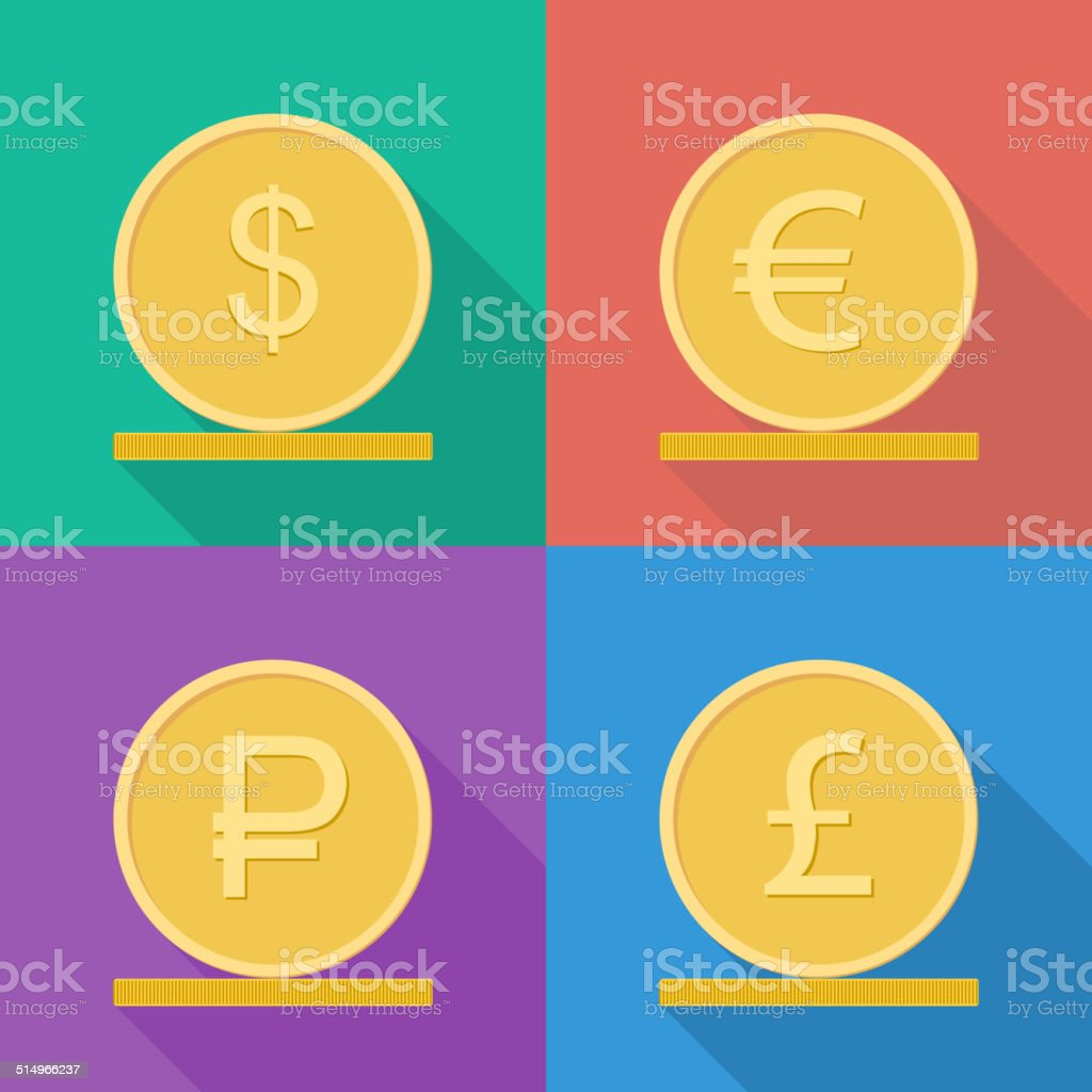 Coins vector icon. vector art illustration