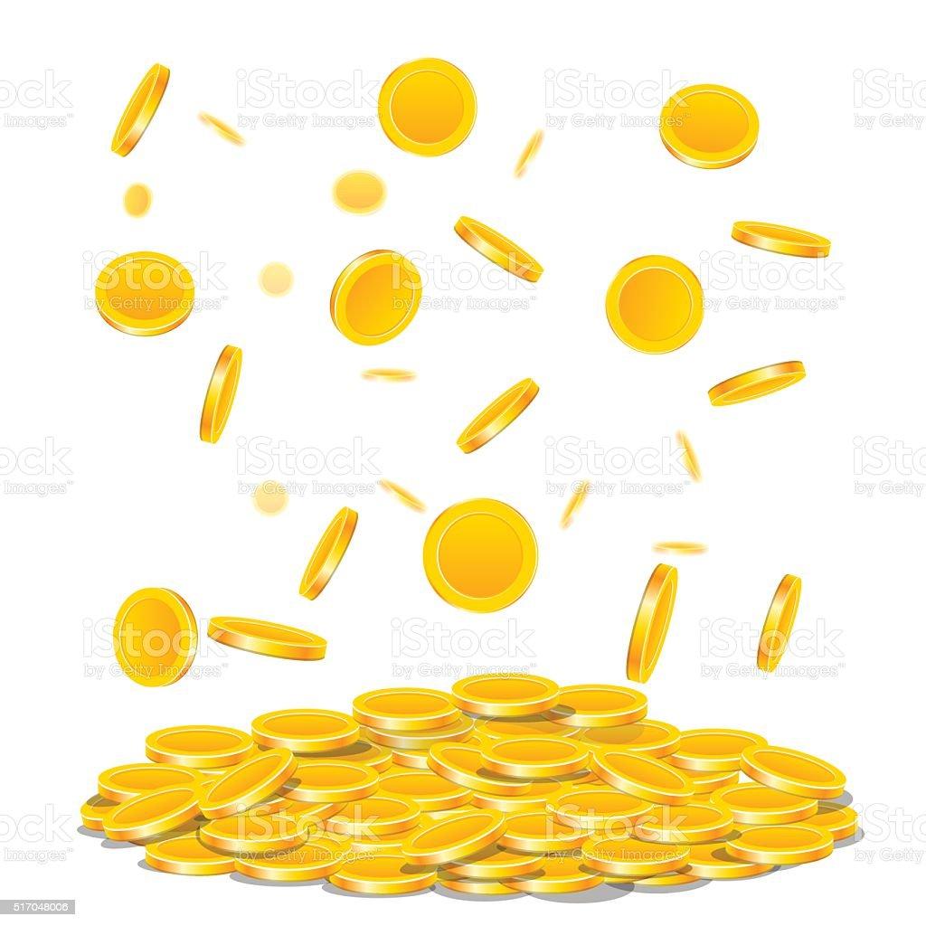 coins vector art illustration