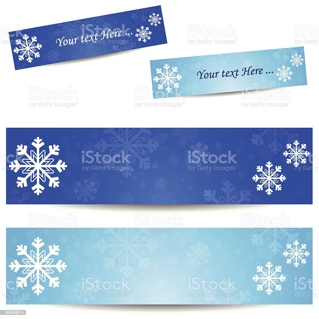Cold banner royalty-free stock vector art