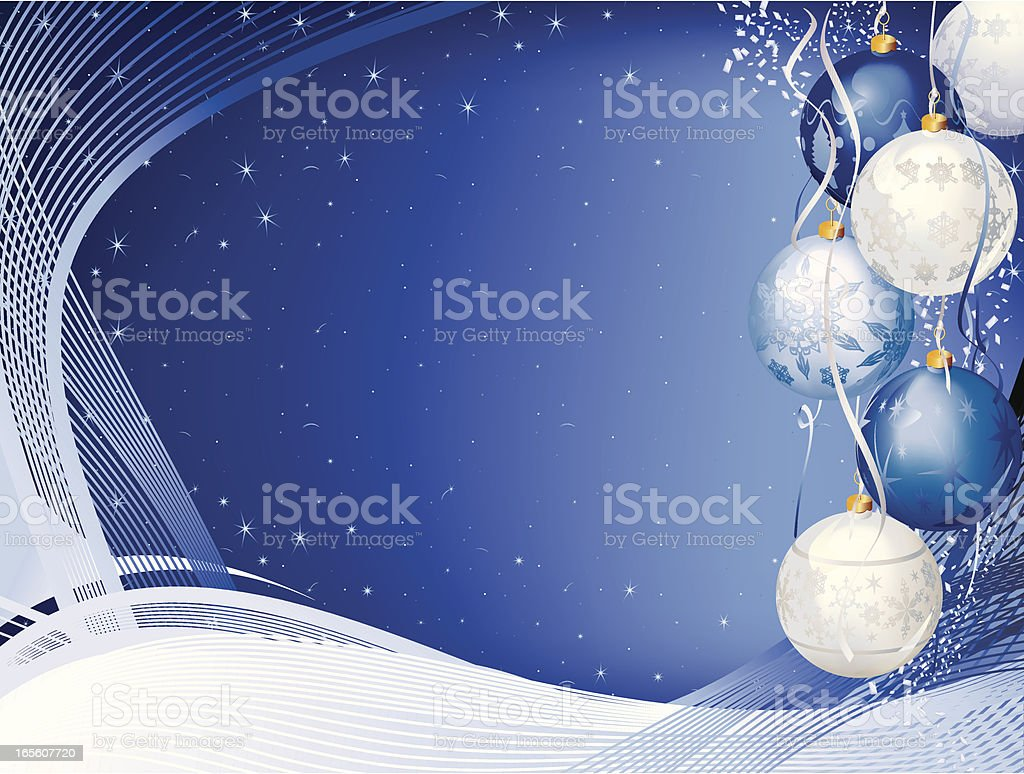 Cold Bauble Horizontal Background - Christmas royalty-free stock vector art