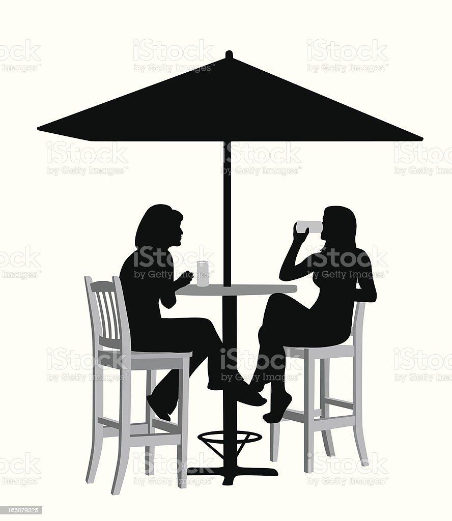Cold Drinks Vector Silhouette vector art illustration
