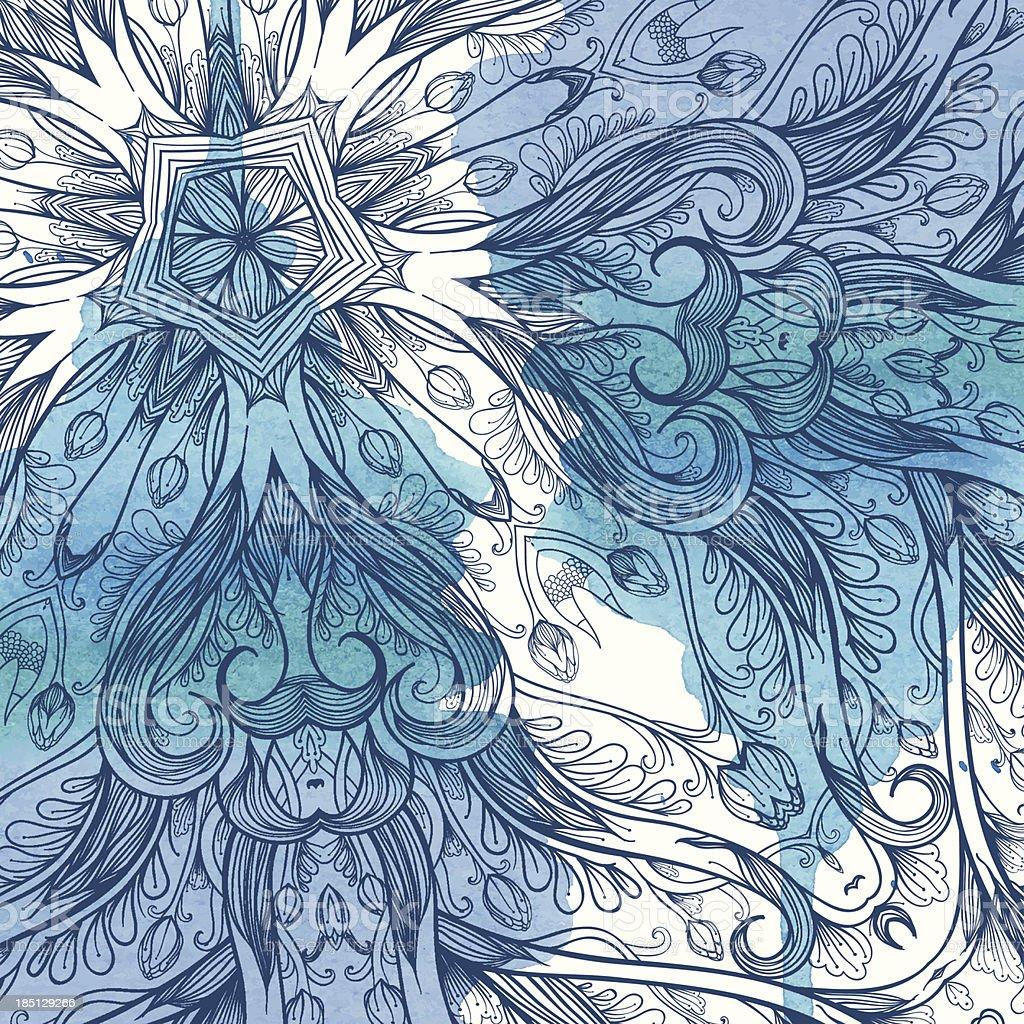 Cold flowers vector art illustration