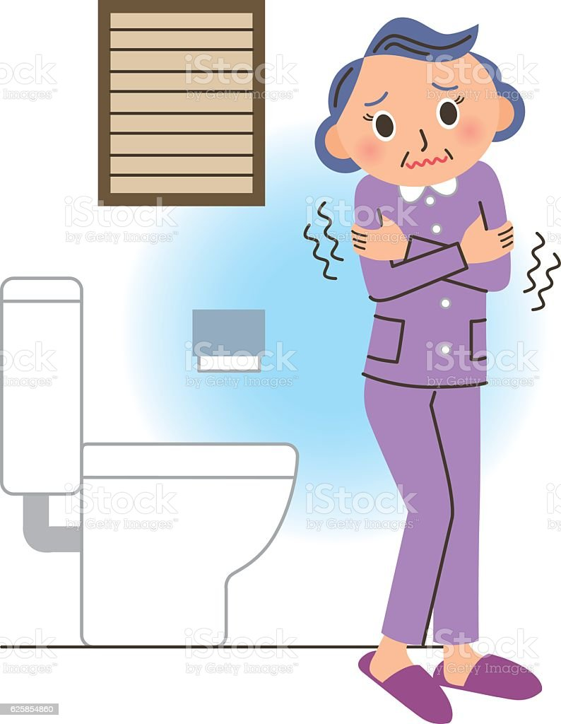 Cold restroom vector art illustration