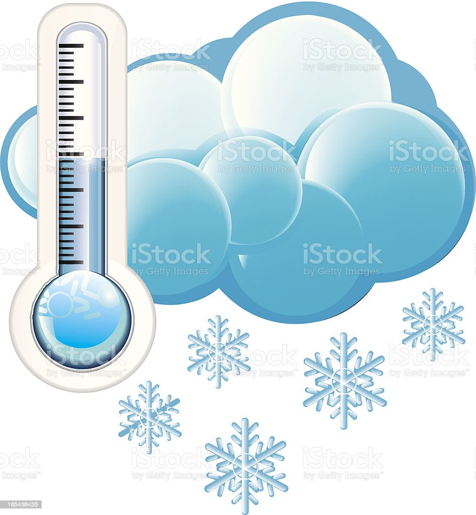 Cold Weather Icon royalty-free stock vector art