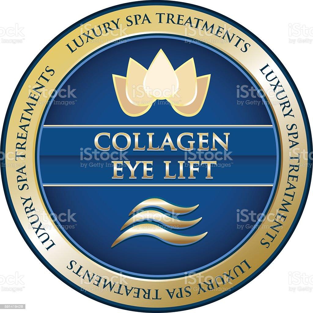 Collagen Eye Lift vector art illustration