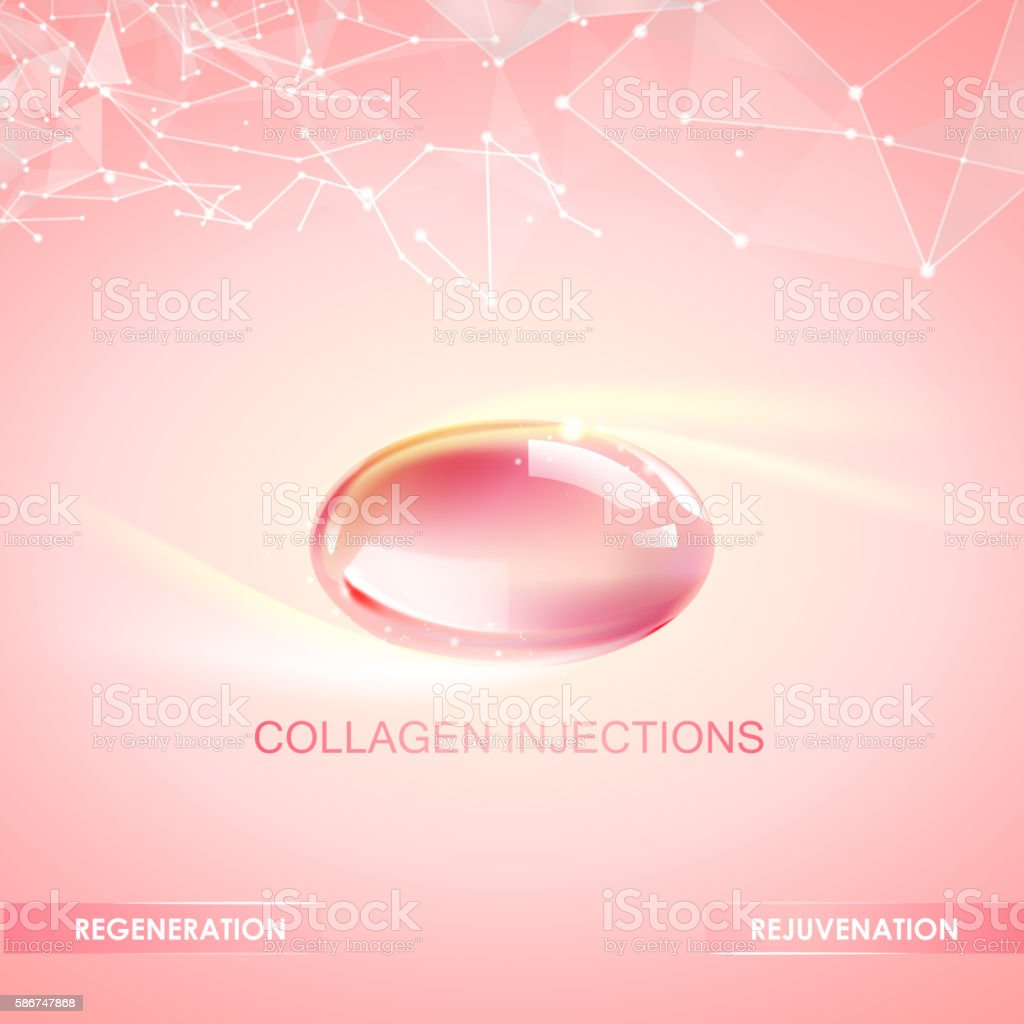 Collagen natural product. vector art illustration