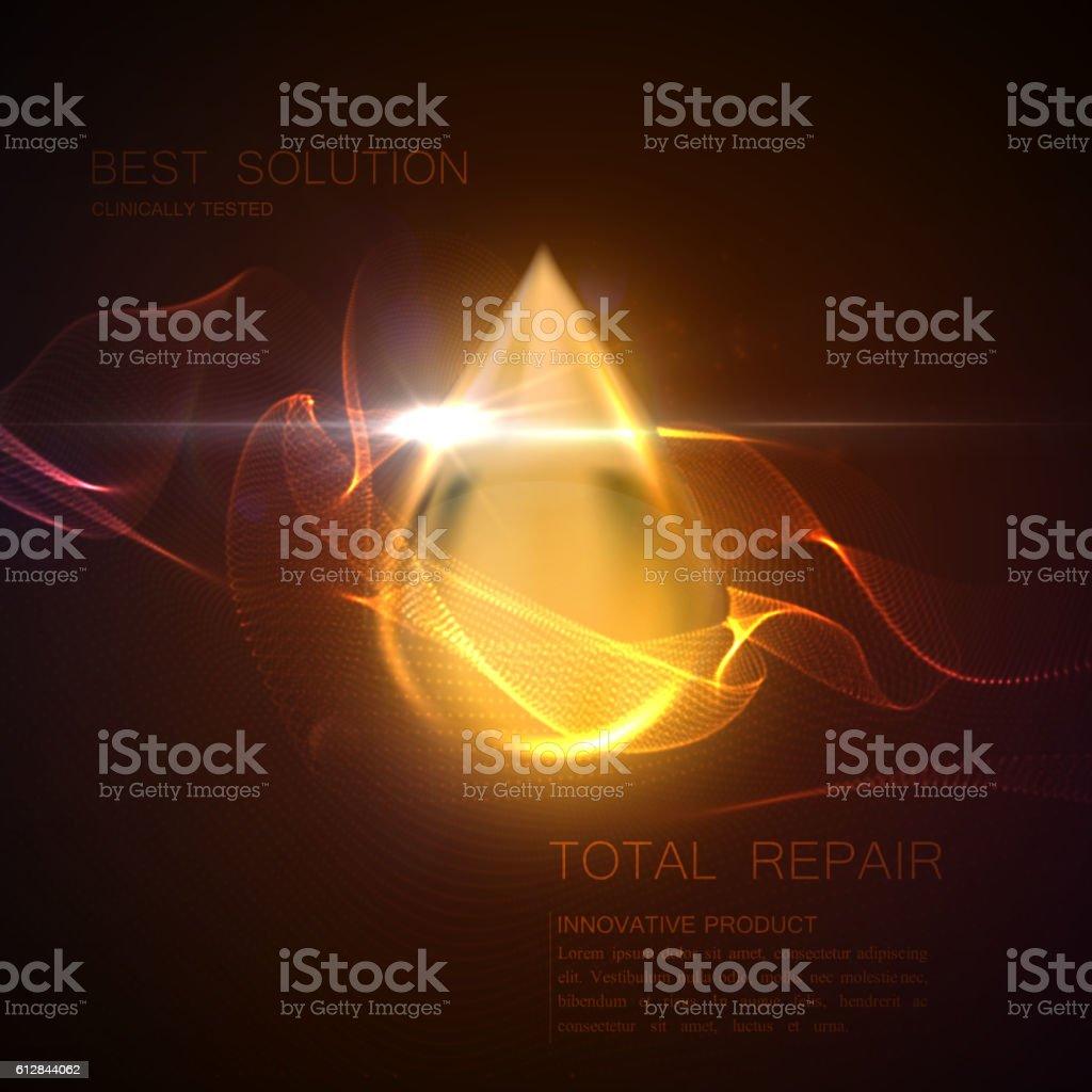Collagen serum or oil essence droplet vector art illustration