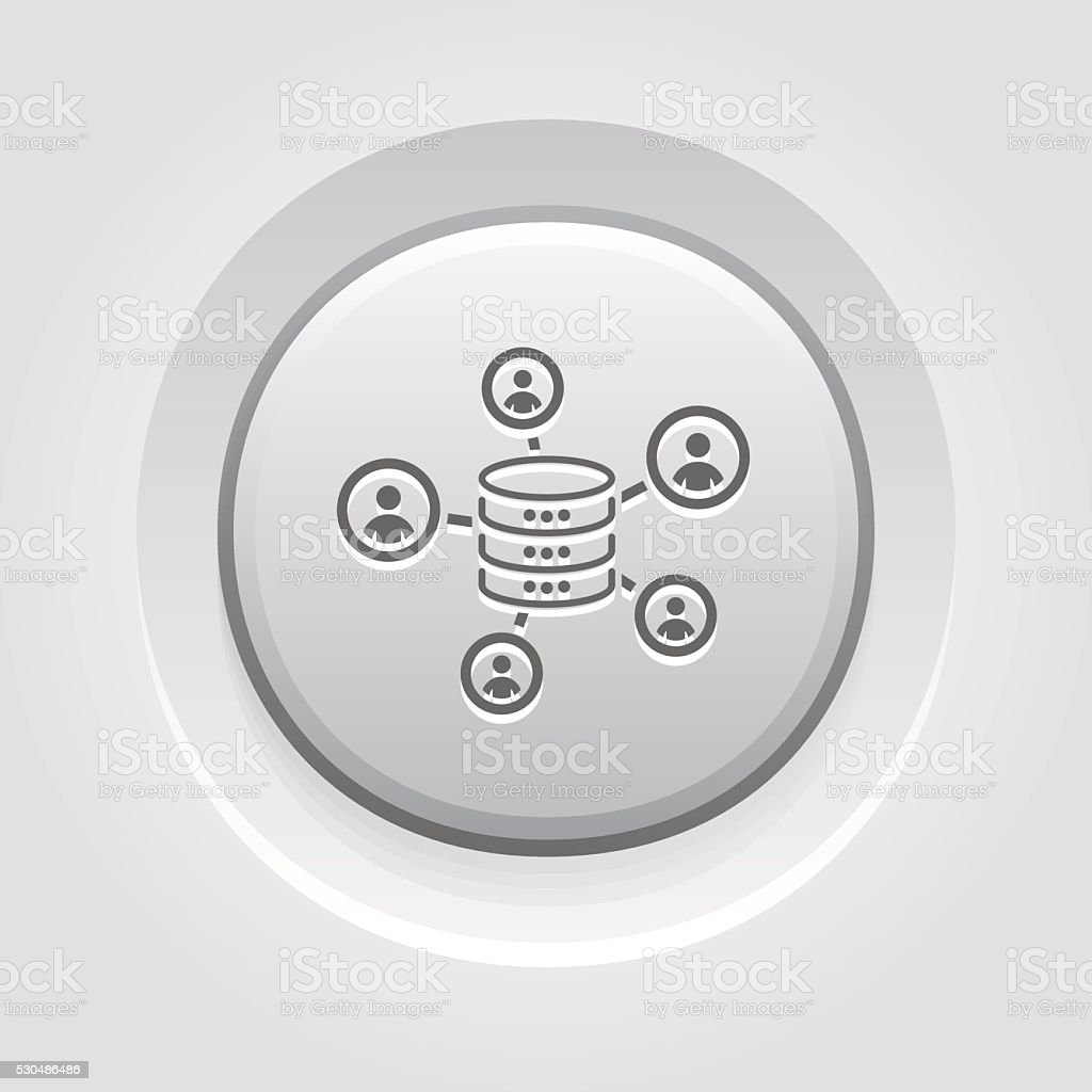 Collecting Data Icon vector art illustration