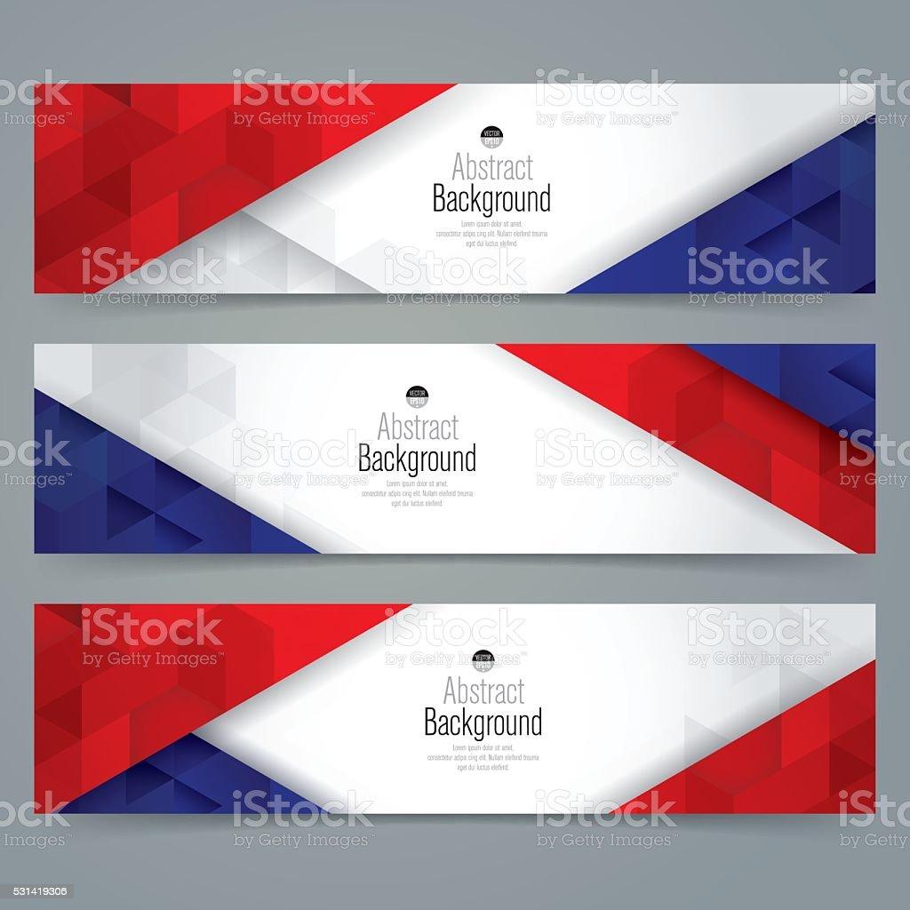 Collection banner design, France flag colors background. vector art illustration