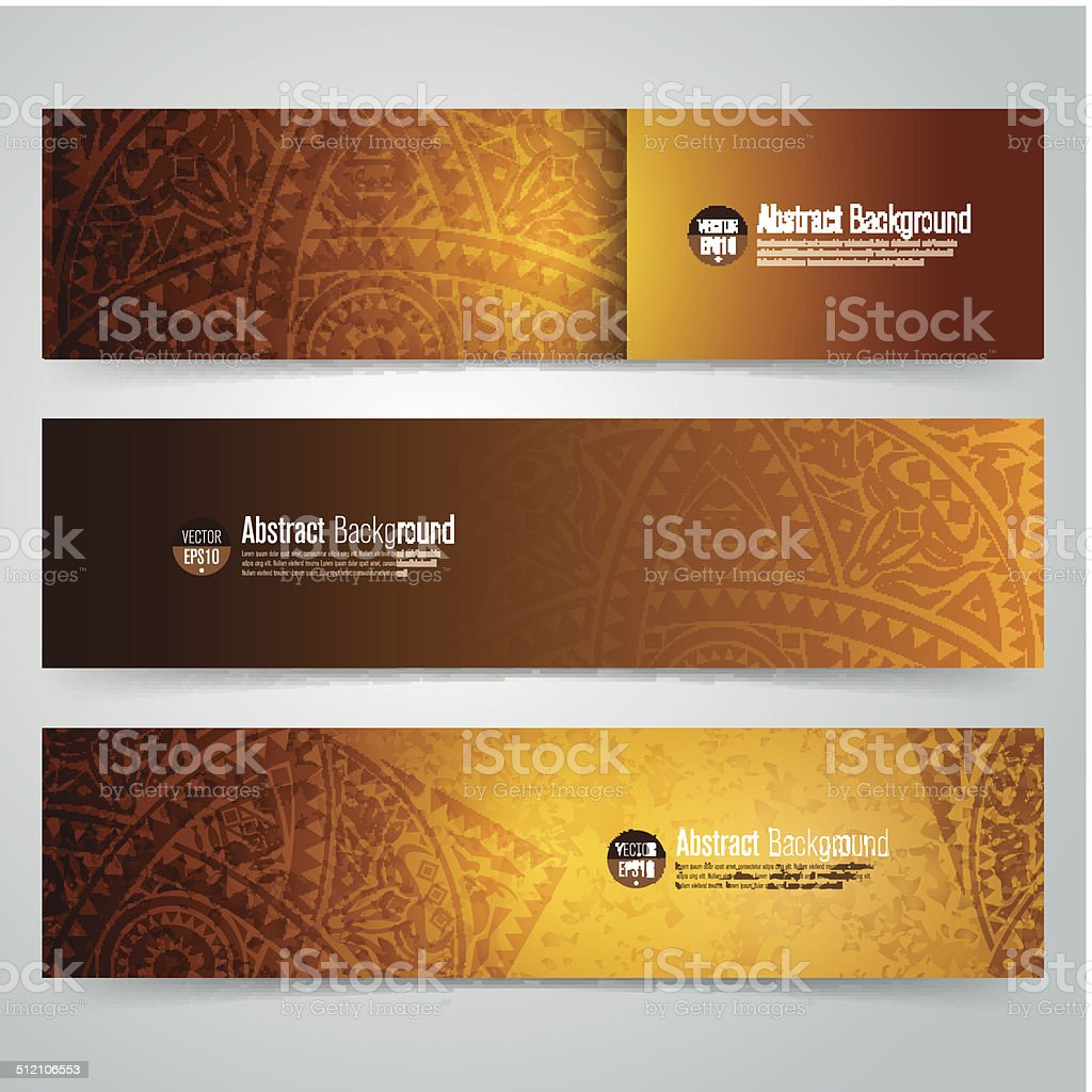Collection banner design, vector background. vector art illustration