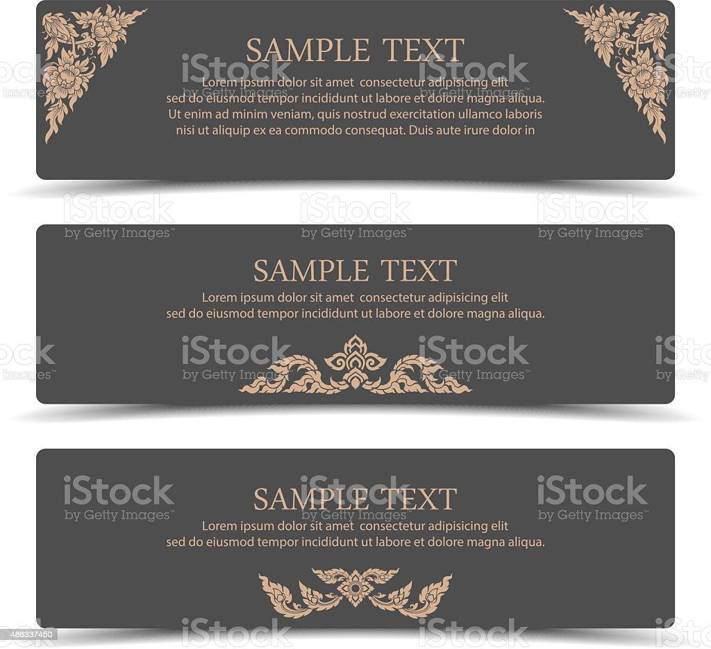 Collection banner design with line thai art.vector vector art illustration