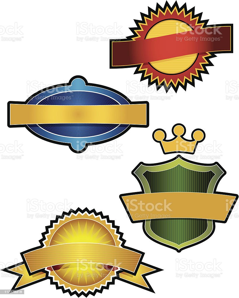 Collection of 4 vector Emblems royalty-free stock vector art
