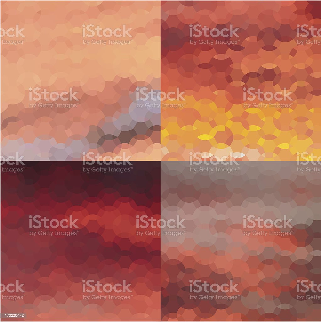Collection of Abstract Geometrical Backgrounds royalty-free stock vector art