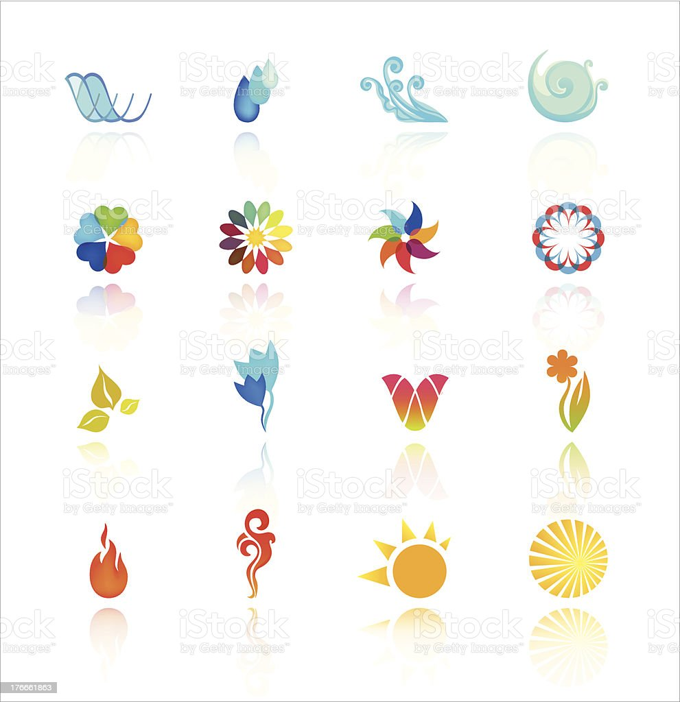 Collection Of Abstract Symbols vector art illustration
